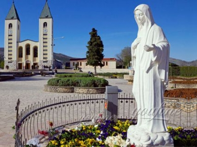 Outdoor Life-size Marble Virgin Mary Sculpture for School or Church on Sale CHS-090