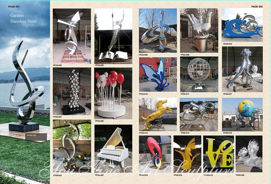 Outdoor abstract creative stainless steel sculpture