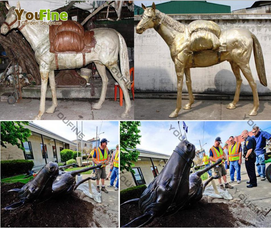 Outdoor High Quality Bronze Horse Sculpture for Sale BOKK-522