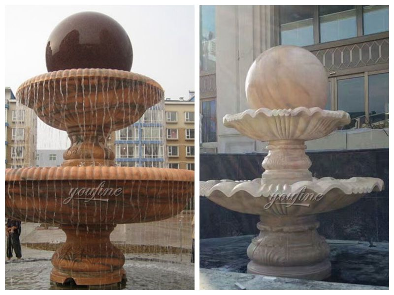 Stone Rolling Ball Fountain