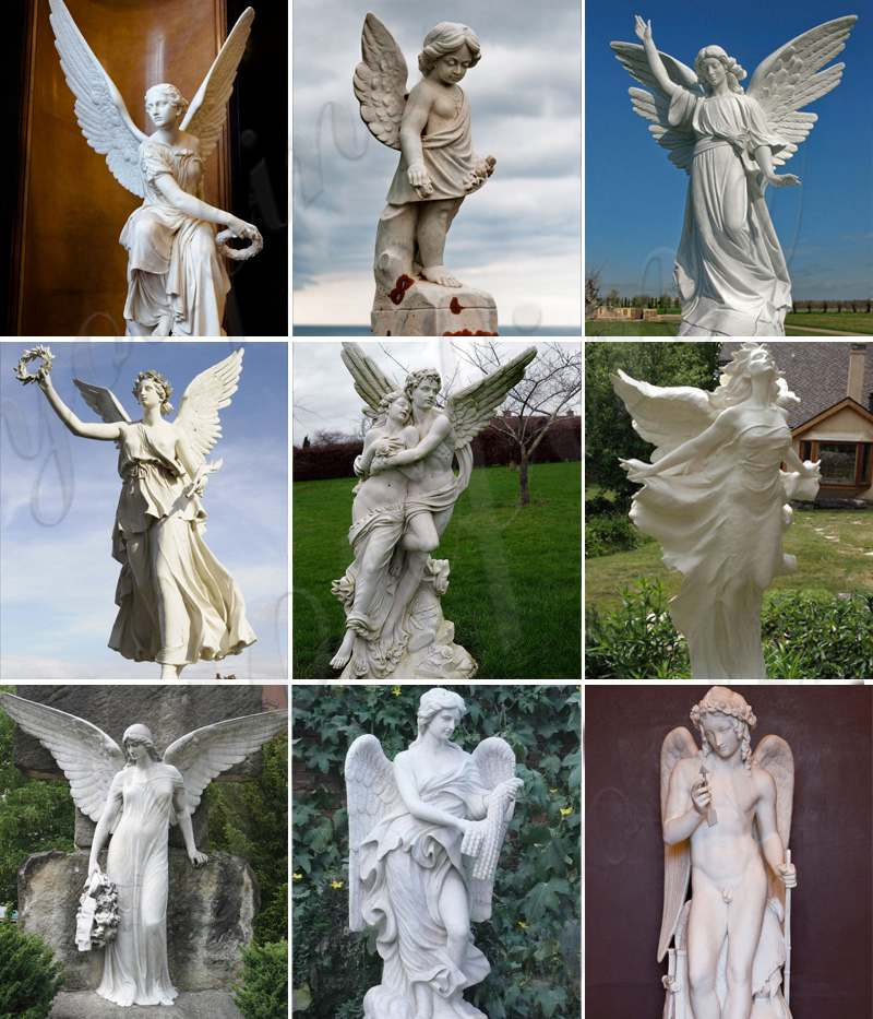 Life-size White Marble Psyche Sculpture