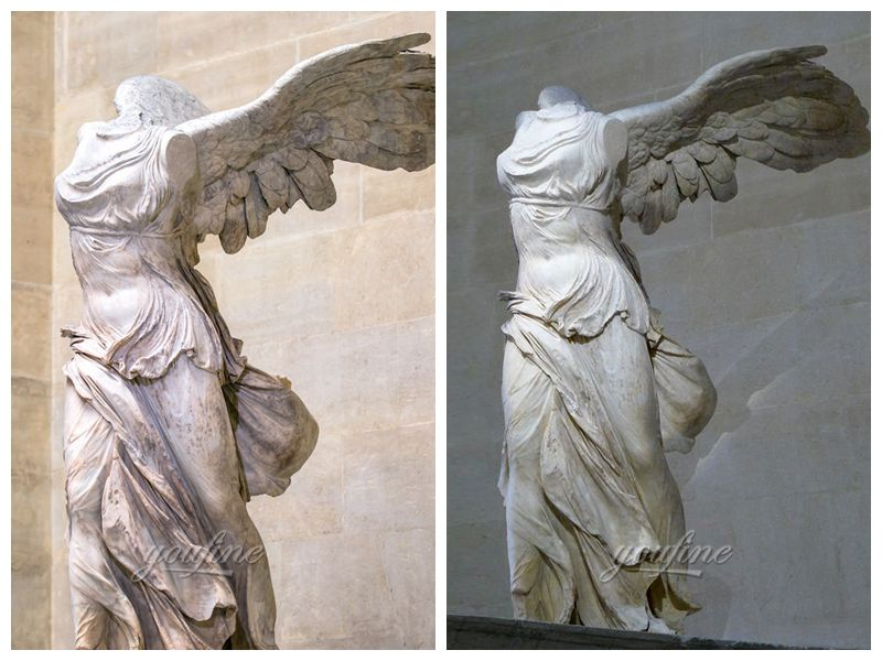 White Marble Victory Goddess Sculpture
