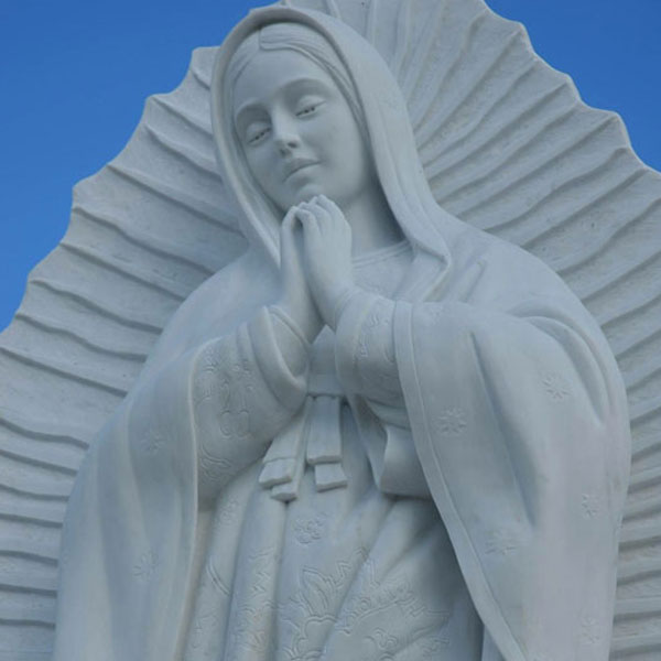 Marble Sculpture of the Virgin Mary of Guadalupe