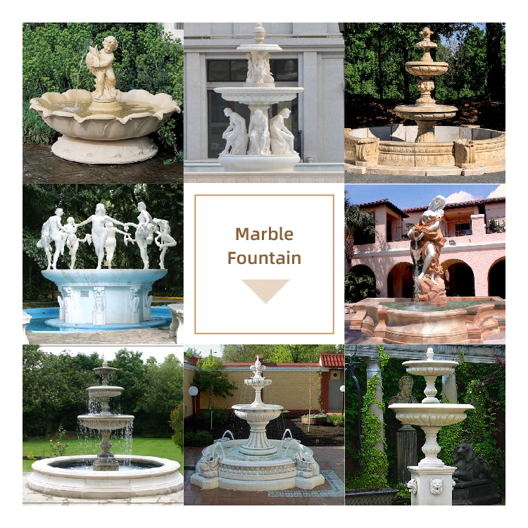 Large Outdoor Layered Neptune Marble Fountain Garden Gecoration for Sale MOKK-06