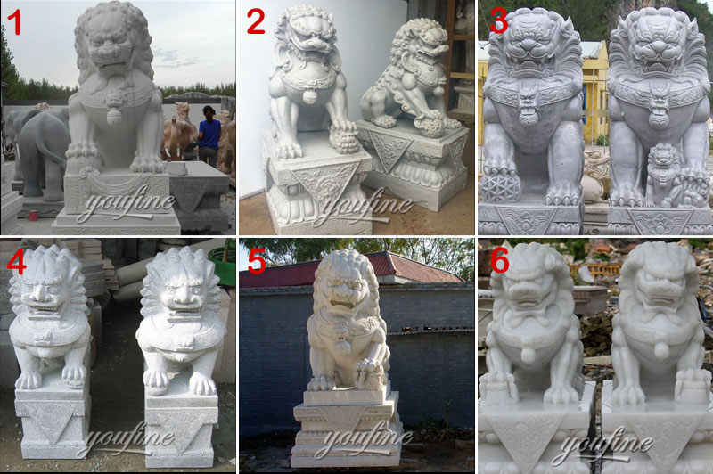 Marble Chinese guardian lions Statue