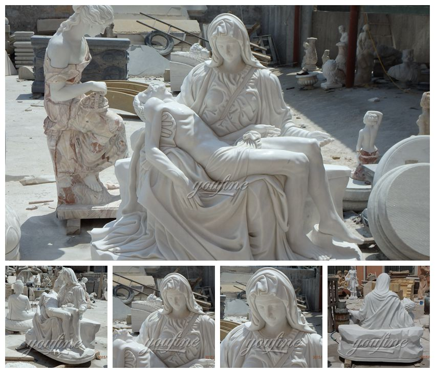 The Virgin mourns Christ Statue