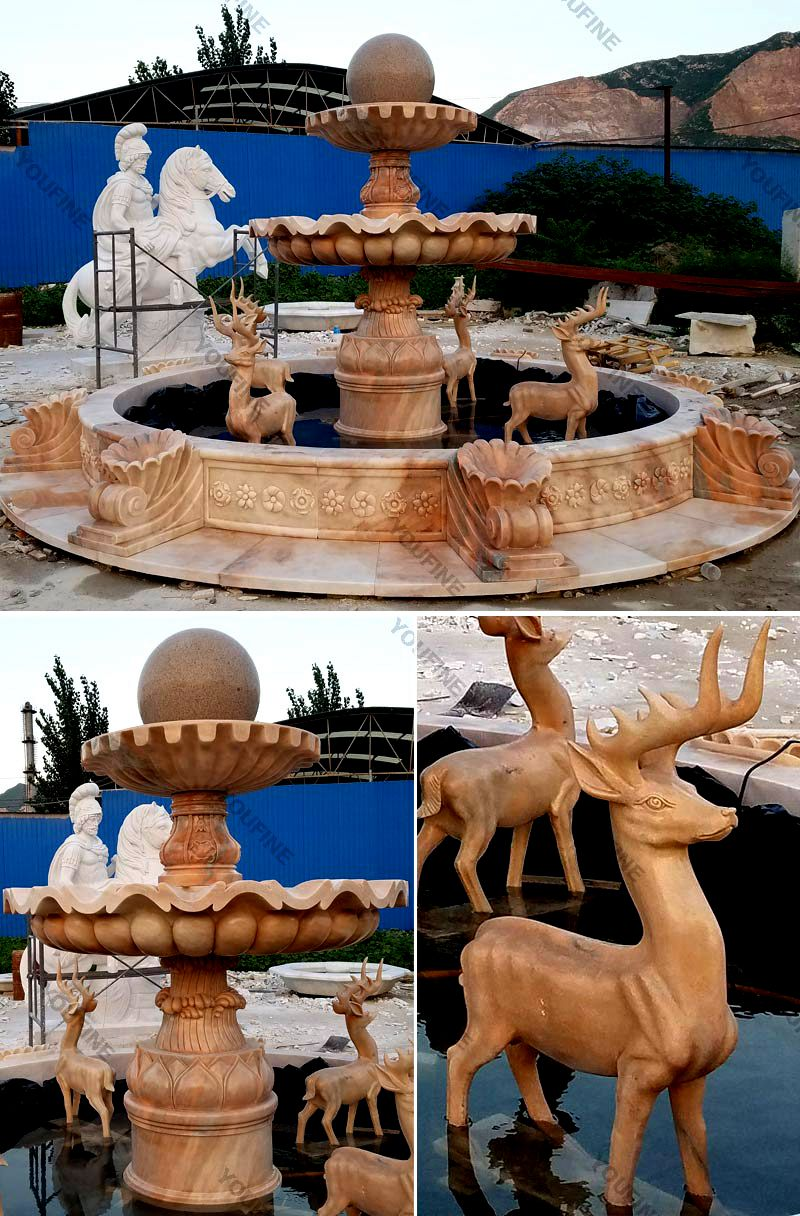 Outdoor Garden Marble Water Fountain Sculpture for Sale