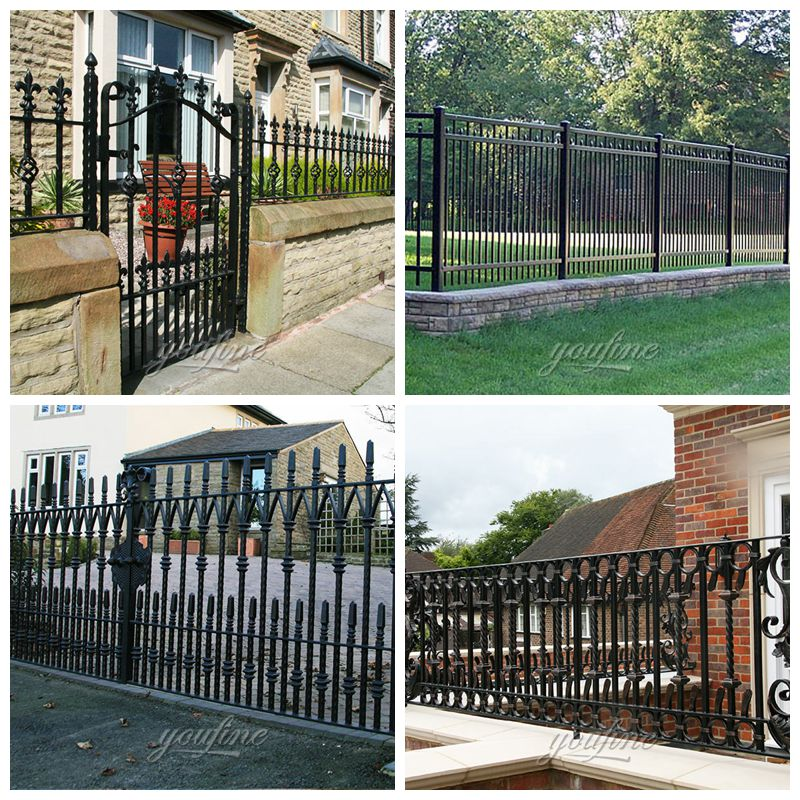 Outdoor Garden Customized Wrought Iron Fence Decoration for Sale