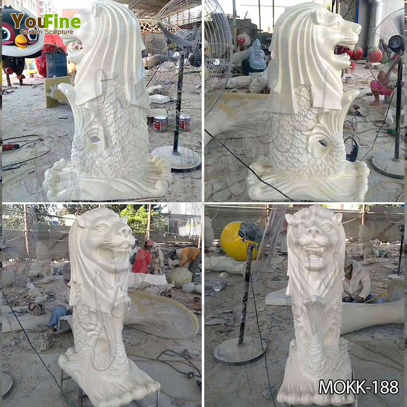 Outdoor Large Marble Merlion Fountain