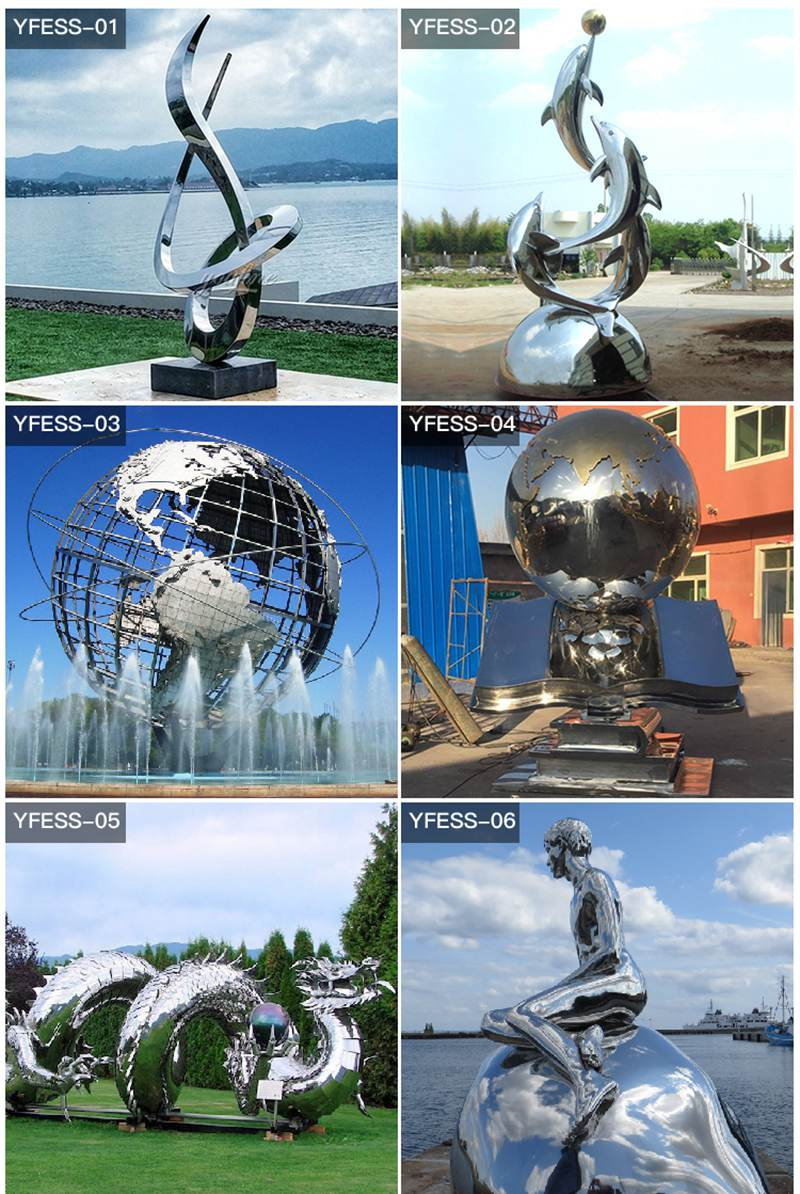 Ali and Nino Stainless Steel Sculpture