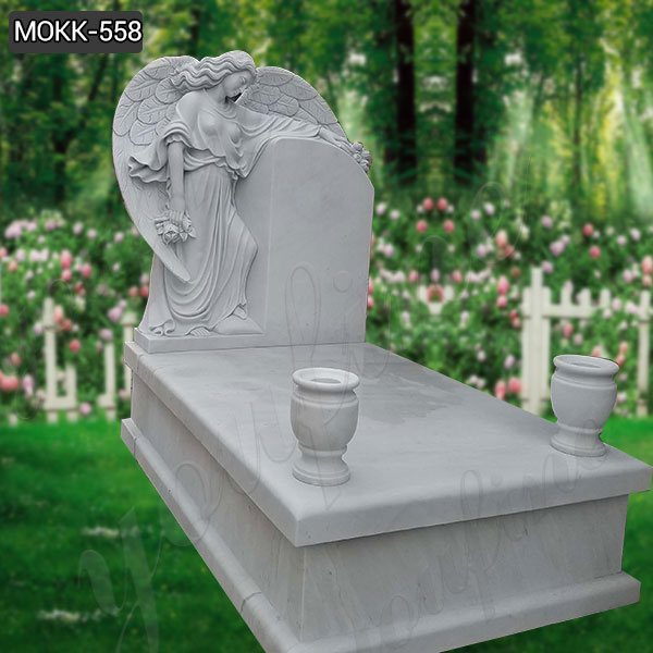 About the Deluxe Marble Angel Tombstone. We want to be remembered forever, either or dead. Nothing is more impressive than a marble tombstone chosen with care. This is a large luxury marble angel tombstone that we have custom made for our clients, there is a custom marble base and there are marble vases that can be used as decoration, our clients will decorate it with beautiful flowers and it has been turned into a work of art in the cemetery.  Quality raw materials All our marble carving products are made from high-quality marble raw materials and can accept your choice of materials including marble, granite, sandstone and any other stone available, you can tell us your requirements and our business staff will recommend you the most suitable product for your requirements.  A variety of clay mold styles to choose from To meet the different needs of our customers for tombstone angels, our clay molders have also designed a series of angel clay molds, they have different shapes and movements, whether it is standing angel, sitting angel, crying angel, we can make all of them, and we can change the face of the angel to the face of your loved one, and try to keep her similar. Our Weeping Marble Angel Tombstone look is even more endearing in its action and godlike look, so contact us now if you need it.  More than 30 years of production experience As a professional manufacturer of marble sculptures, no one is more dedicated than us. We have been engaged in the production of marble carving for more than 30 years, perfect quality and customer satisfaction is our lifelong pursuit of the goal, our products are exported to all over the world, and received wide acclaim!  How to contact us. Underneath our page there is a message board and contact information where you can leave us a message telling me about the style you like or other details. You can also give us a call at +86-13938480725 or send us an email at info@you-fine.com and one of our sales staff will communicate with y