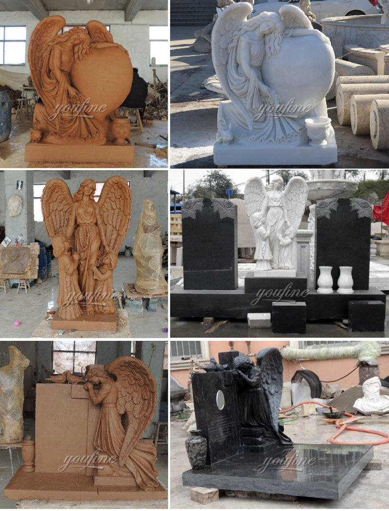 High Quality Marble Angel Tombstone
