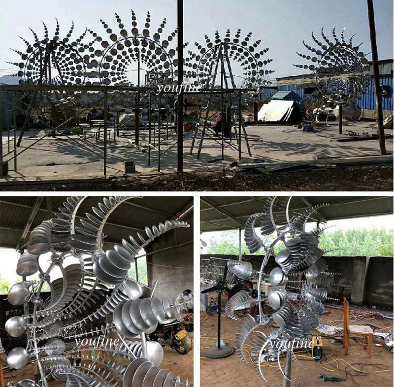 Kinetic Stainless Steel Sculpture Factory