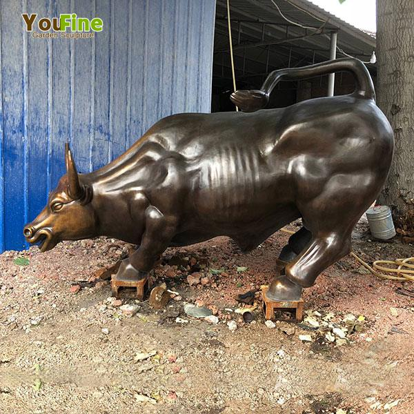 High Quality Wall Street Bronze Bull Sculpture for Sale BOKK-660