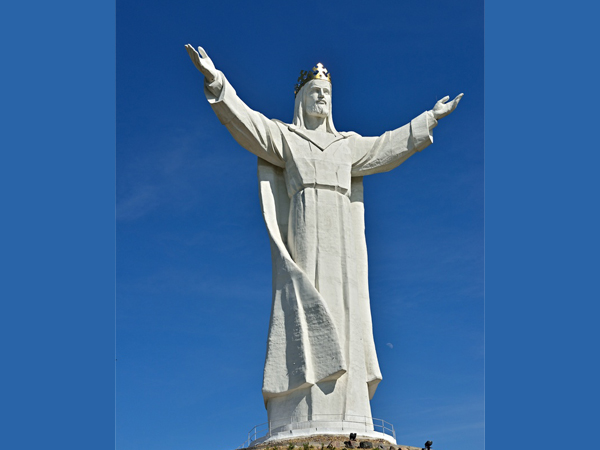 New products large christian jesus marble statues opening the arm