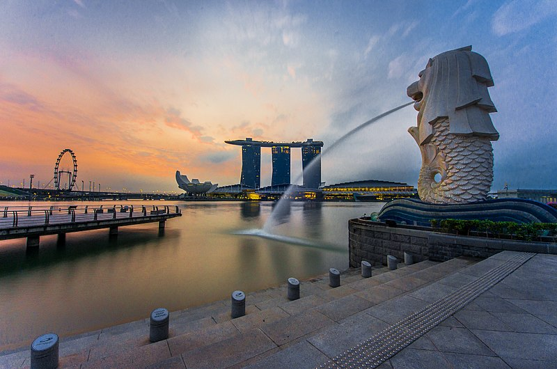Outdoor Large Marble Merlion Fountain for Sale