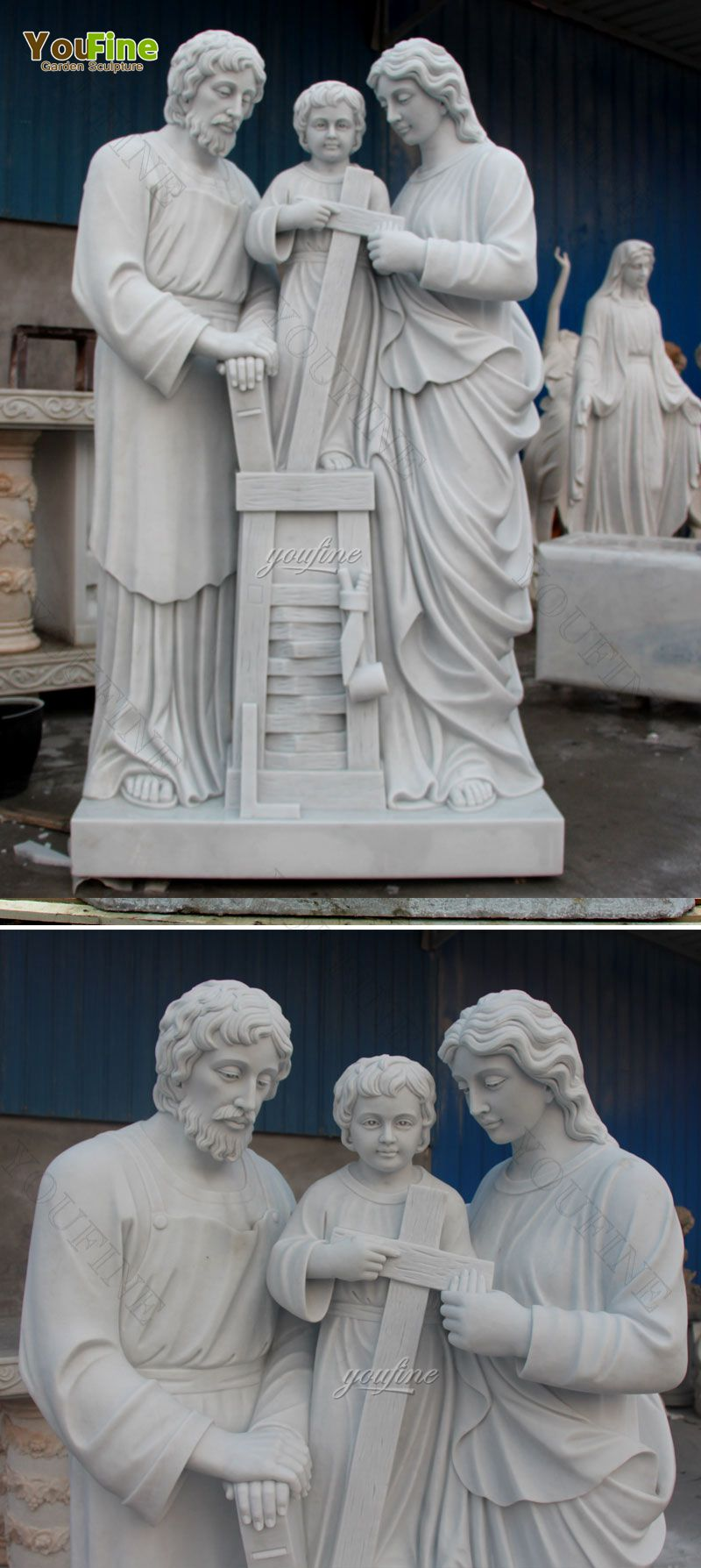 Customized High Quality Religious Marble Holy Family Sculpture
