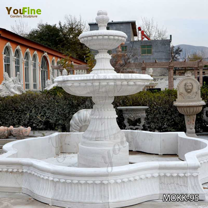 Large White Marble Multi-layer Fountain for Sale Mokk-95