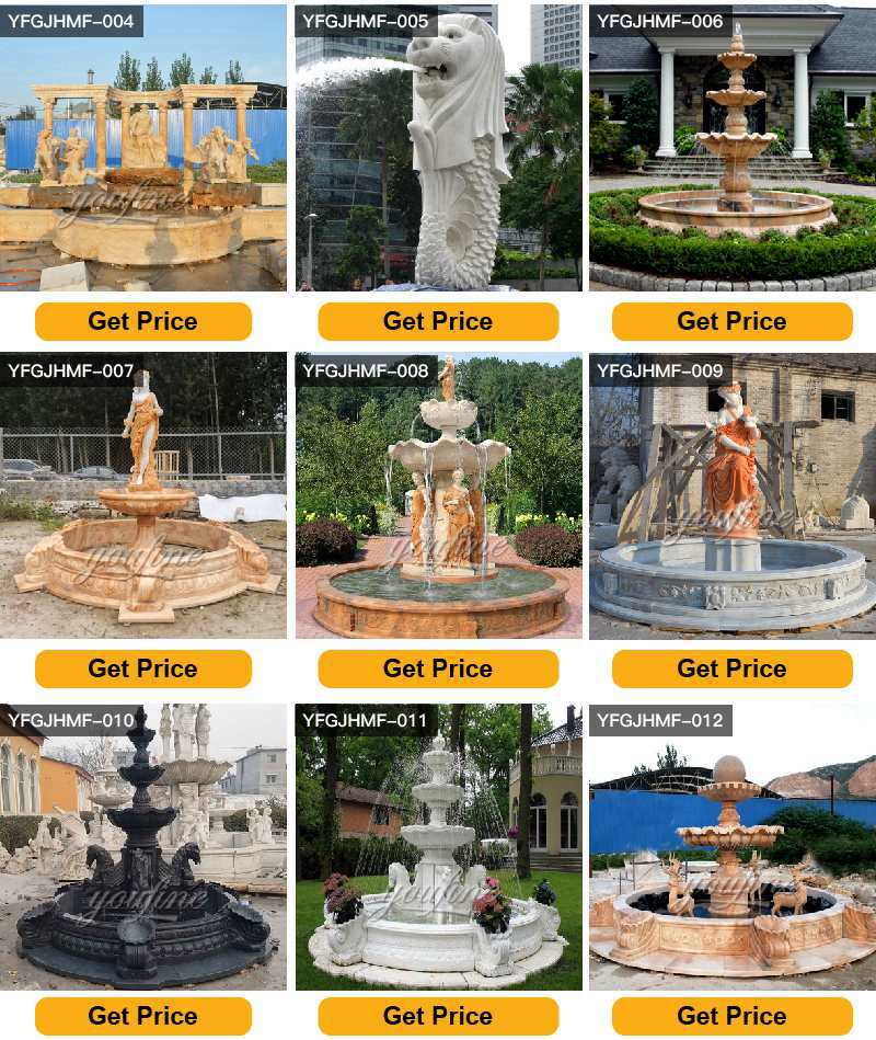 Outdoor Large Marble Fountain for Sale