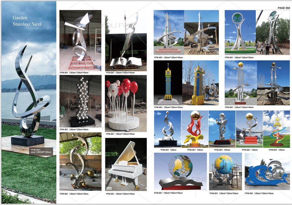 Other designs of stainless steel sculpture