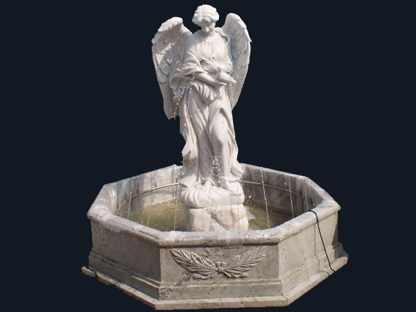 Beautiful white Marble Angel Water Fountain for Garden