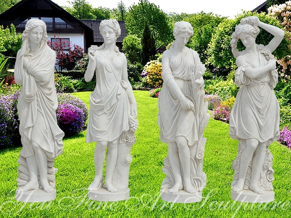 Four Seasons Maidens Marble Sculpture