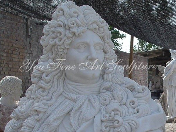 Carved Famous White Marble Napoleon Bust