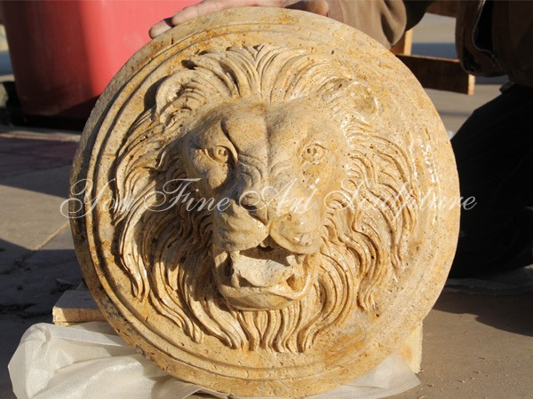 home decor wholesale high quality stone carving marble lion head