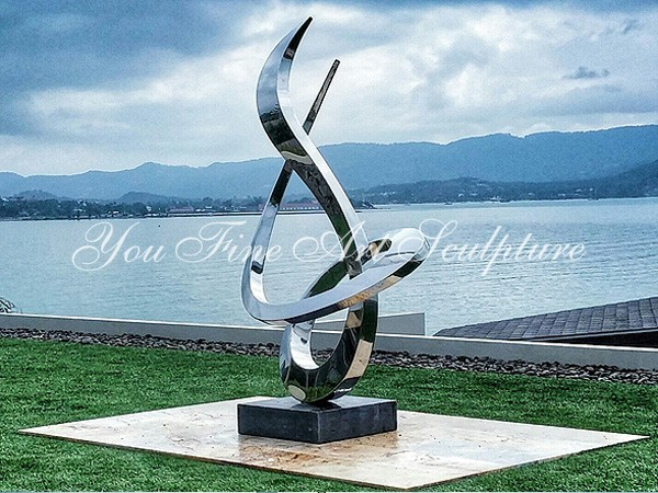 Large garden decoration abstract stainless steel Sculpture