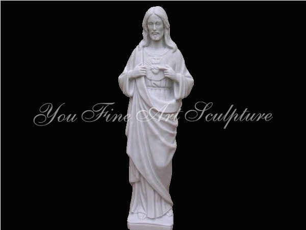 Hand Carved Stone Marble Life Size Juses Statue Religious Carving