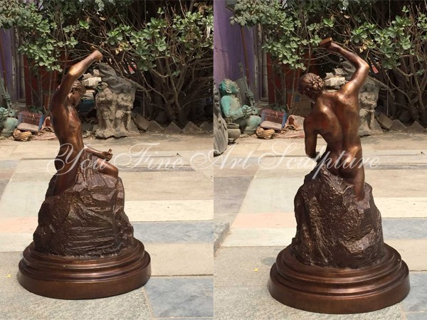 Famous Casting Bronze Sculpture of Self-Made Man