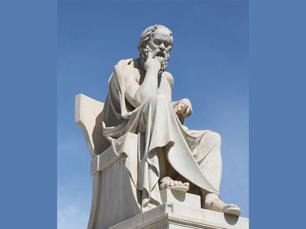 famous life size marble socrates statue