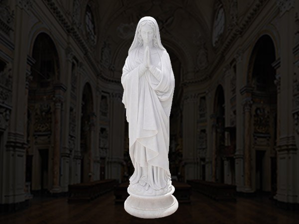 Outdoor Marble Statue Of Virgin Mary