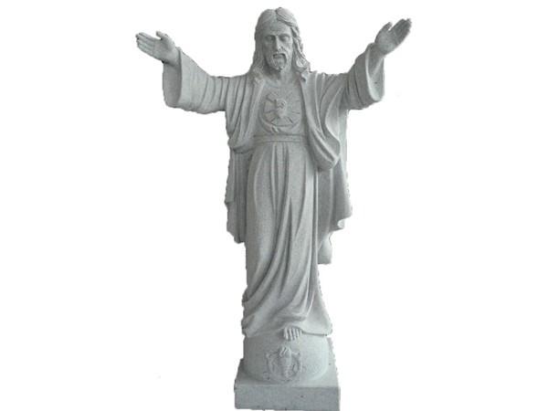 Hand Carved white marble Jesus statue