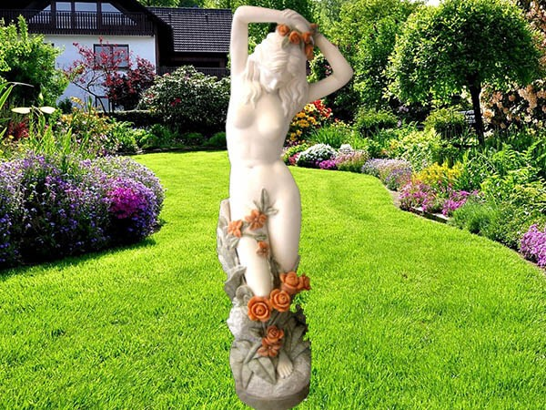 popular 2016 hot sell stone carving marble lady statue
